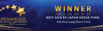 "KIS Asia Long Short Fund wins ""Best Asia Ex-Japan Hedge Fund"" at the Eurekahedge Awards"